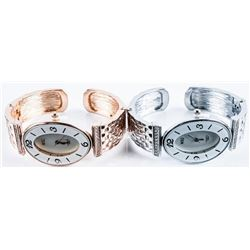 Matched Pair Ladies Bangle Watches Oval Dial,  Panther Link Bracelet, Brand New Styles.
