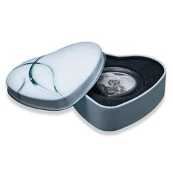 I LOVE YOU - Heart Cut 925 Sterling Silver  1000 Francs Coin with C.O.A. LE 2500