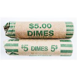Lot of (2) Rolls USA Dimes
