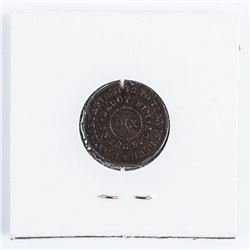 1863 Civil War Token Patriotic Flag of Our  Union DIX Shoot on the Spot, High Grade