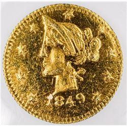 1849 B.C. Gold Token Jacob 9k and Lamp  Hallmarks