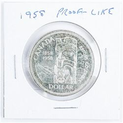 1958 CAD Proof Like Silver Dollar