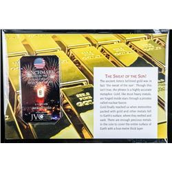 Collector Bullion Gold Bar 'In God We Trust'  .999 Fine 24kt Gold Bar Certified with Giclee  Art Car