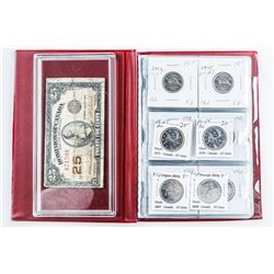 Coin Stock Book - 12 Coins, Includes Silver  Plus 1923 Shinplaster