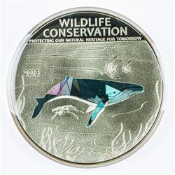 Humpback Whale 925 Silver $5.00 Proof LE/2500