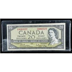 Bank of Canada 1954 20.00 Modified Portrait  (XE) B/R