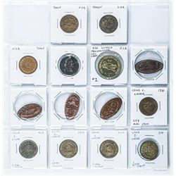 Group of (14) Collector Tokens, Canada and  USA