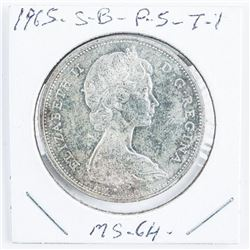 1965 CAD Silver Dollar MS64 SB/P5 Type 1