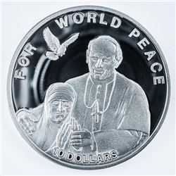 2010 - For World Peace 925 Sterling Silver  $10.00 LE/2500 Worldwide - 20 grams