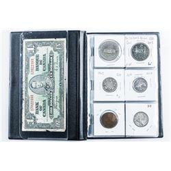 Coin Stock Book - 24 Coins CANADA, Includes  Silver Plus 1937 1.00