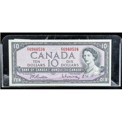 Bank of CANADA 1954 10.00 Modified Portrait  B/R BC-40b Note