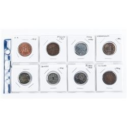 Group of (8) World Coins: Greece, France,  Russia, Italy etc