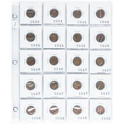 Group of (20) Canada King George Small Cents  1943 - 1949 Era