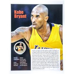 Kobe Bryant Collector Medallion w/ Giclee Art  Card 24KT Gold Foil