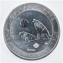 RCM Howling Wolves 2.00 Coin .999 Fine Silver