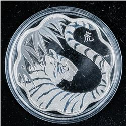 2010 $15 Lunar Lotus Year of the Tiger -  Sterling Silver Coin