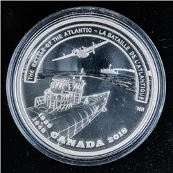 RCM 2018 Second World War Battlefront-Series  .999 Fine Silver $20.00 Coin (AK)