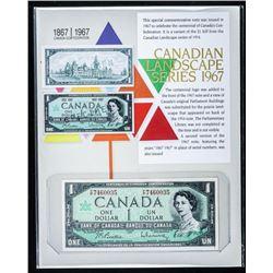Canadian Landscape Series 1967 1.00  Centennial B/R