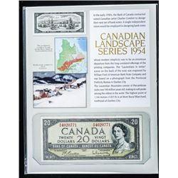 Canadian Landscape Series 1954 20.00 Modified  Portrait B/R