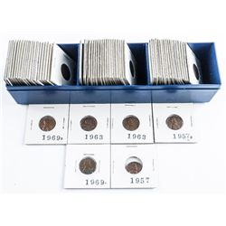 Box Lot - USA Lincoln Cents, Blue Case