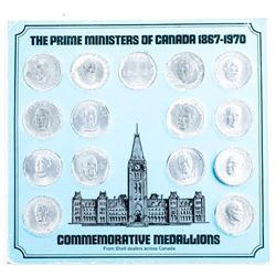 Prime Ministers of Canada 1867-1970 From  Shell Dealers Across Canada