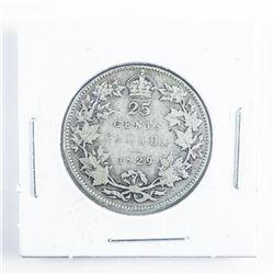 1929 Canada Silver 25 cents