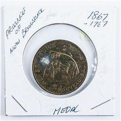 New Brunswick 1867-1967 Coat of Arms Medal