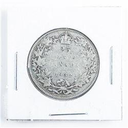1932 Canada Silver 25 cents
