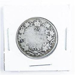 1931 Canada Silver 25 cents