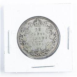 1930 Canada Silver 25 cents