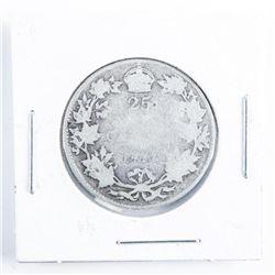 1917 CANADA Silver 25 Cent