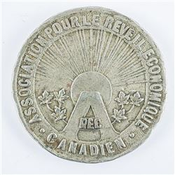 1934 Association Reveil Economique Canadian  Medal 32mm