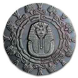 King Tut - Egyptian Round .999 Fine Silver  Collector Bullion