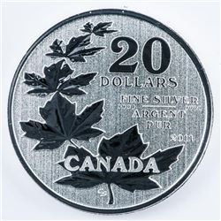 RCM 2011 Maple Leaves 1st Issue, .999 Fine  Silver $20.00