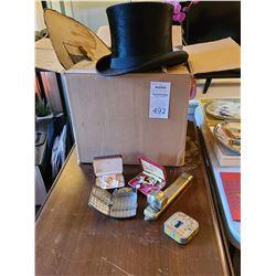 Antiques and  Beaver Pelt Top Hat B