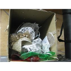BOX OF ASSORTED LIGHT UP DECORATIONS