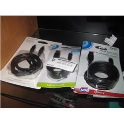 ONN 3PC ASSORTED CABLES