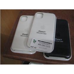 3PC IPHONE 11 APPLE SILICONE CASE