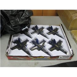 X PLANES AIR FORCES DIE CAST METAL 6PC
