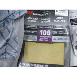 10 PACKAGES 3M SANDBLASTER ADVANCED SANDING 100 MEDIUM 4 SHEETS