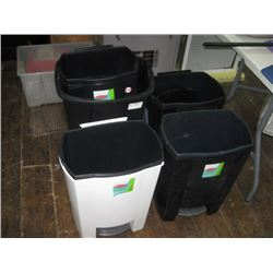 MISTRAL ASSORTED GARBAGE CANS 9PC AS-IS