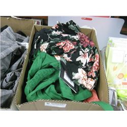 BOX OF ASSORTED MED CLOTHING