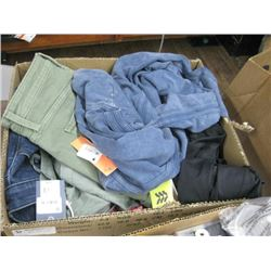 BOX OF S AND XS CLOTHING
