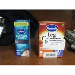 HYLAND'S LEG CRAMP MEDICATION AND EARACHE DROPS