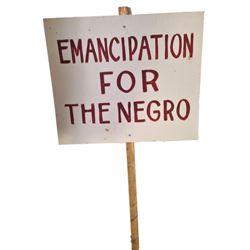 Django Anti Slavery Sign Movie Props
