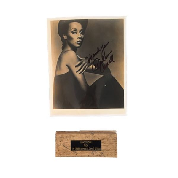 William Duvall Signed Dionne Farris Photo with Debbie Reynolds Dance Floor Piece