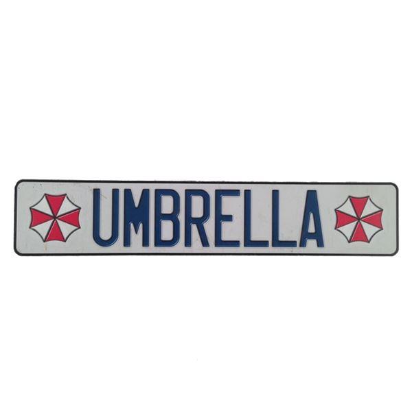 Resident Evil: Afterlife Umbrella License Plate Movie Props