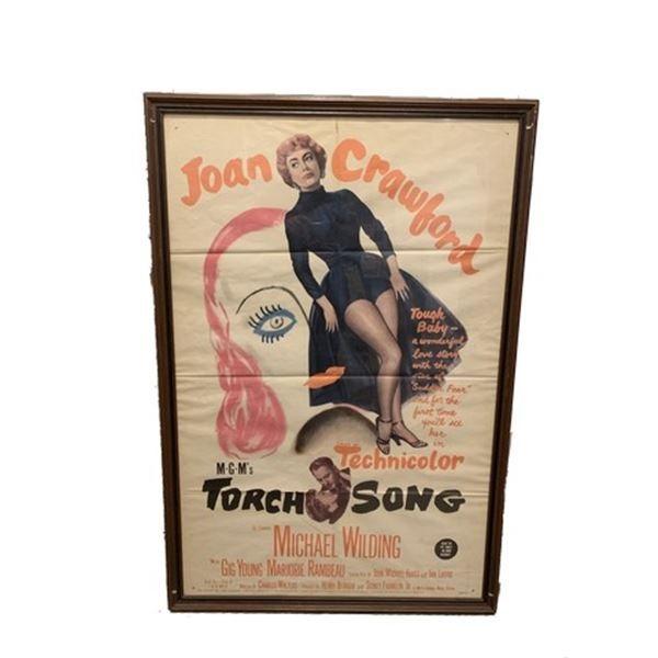 """MGM's """"Torch Song"""" (1953) Original Framed Litho Poster"""