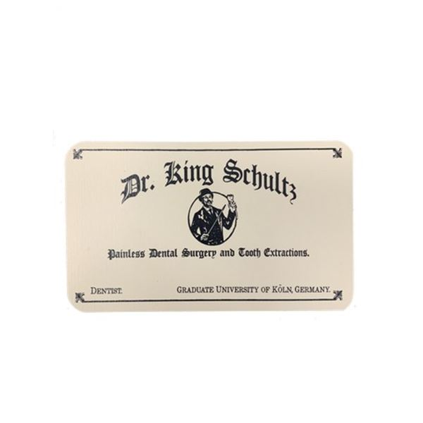 Django Dr. King Schultz (Christoph Waltz) Business Card Movie Props