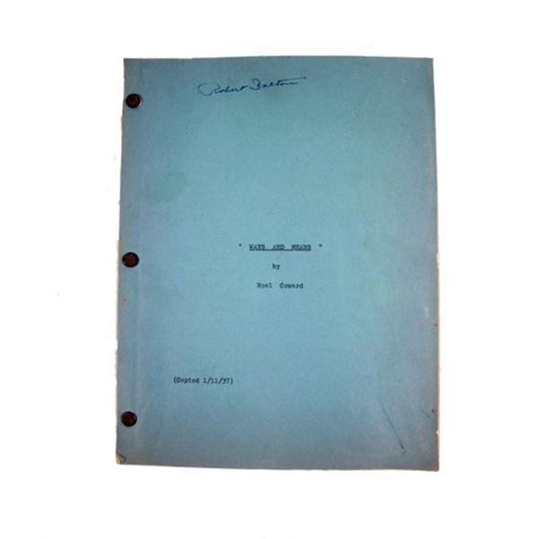 Ways And Means Noel Coward Original Manuscript Movie Collectibles